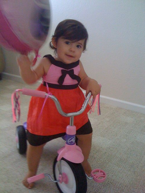 Julia on bike